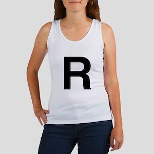 R Helvetica Alphabet Women's Tank Top
