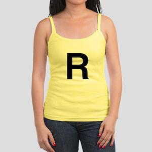 R Helvetica Alphabet Jr. Spaghetti Tank