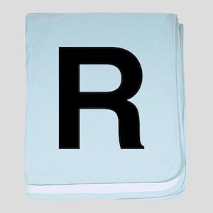 R Helvetica Alphabet baby blanket