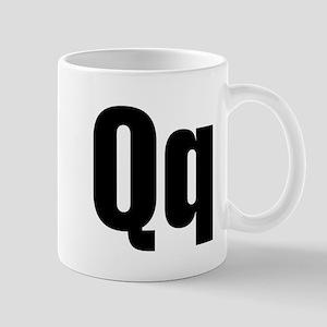 Q Helvetica Alphabet Mug