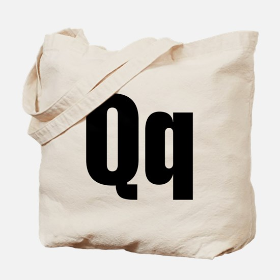 Q Helvetica Alphabet Tote Bag
