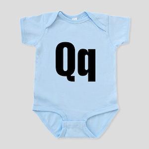 Q Helvetica Alphabet Infant Bodysuit