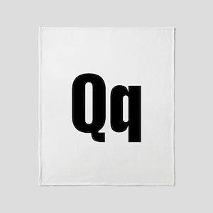 Q Helvetica Alphabet Throw Blanket
