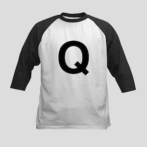 Q Helvetica Alphabet Kids Baseball Jersey