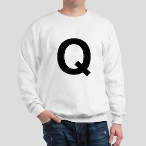 Q Helvetica Alphabet Sweatshirt