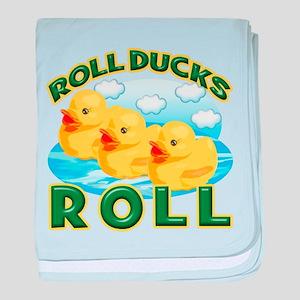 Roll Ducks Roll baby blanket