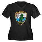 USS BAUSELL Women's Plus Size V-Neck Dark T-Shirt