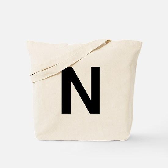 N Helvetica Alphabet Tote Bag