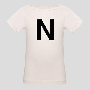 N Helvetica Alphabet Organic Baby T-Shirt