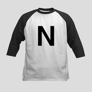 N Helvetica Alphabet Kids Baseball Jersey