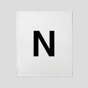 N Helvetica Alphabet Throw Blanket