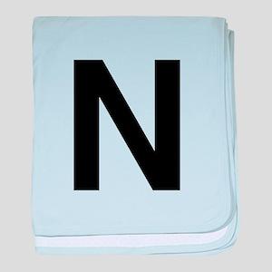 N Helvetica Alphabet baby blanket