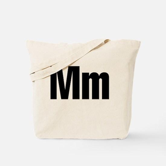 M Helvetica Alphabet Tote Bag