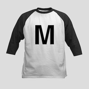 M Helvetica Alphabet Kids Baseball Jersey