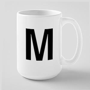 M Helvetica Alphabet Large Mug