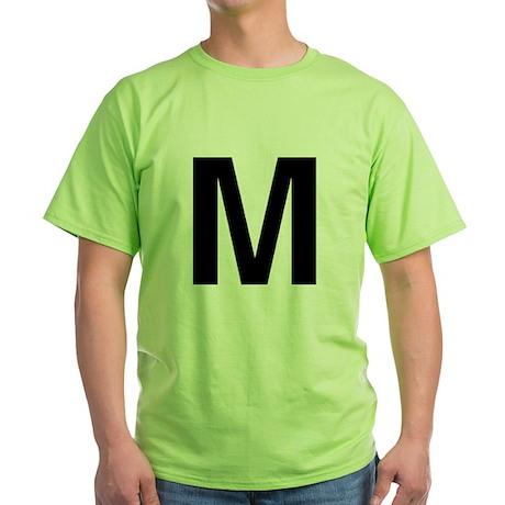 M Helvetica Alphabet Green T-Shirt