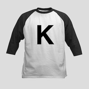 K Helvetica Alphabet Kids Baseball Jersey