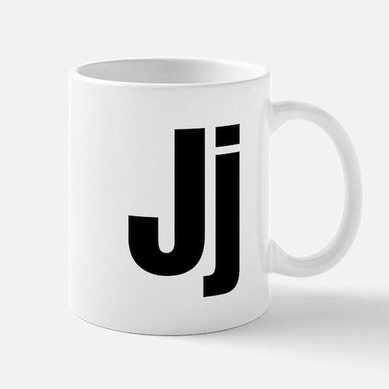 J Helvetica Alphabet Mug