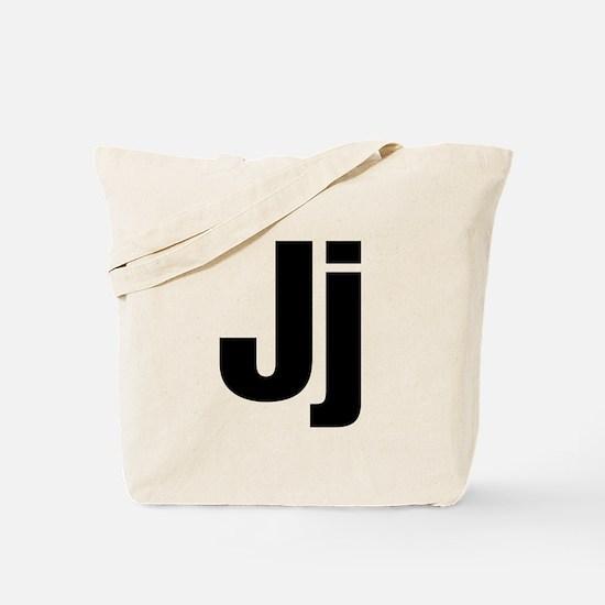 J Helvetica Alphabet Tote Bag