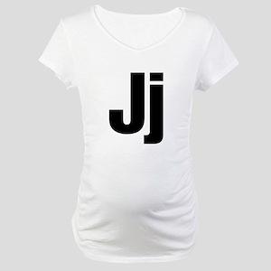 J Helvetica Alphabet Maternity T-Shirt