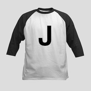 J Helvetica Alphabet Kids Baseball Jersey