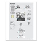 The Sprint (male Scrummaster) Small Poster