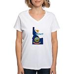 ILY Idaho Women's V-Neck T-Shirt
