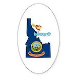 ILY Idaho Sticker (Oval 50 pk)