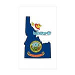 ILY Idaho Sticker (Rectangle 10 pk)