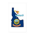 ILY Idaho Sticker (Rectangle 50 pk)