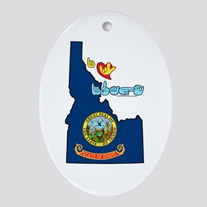 ILY Idaho Ornament (Oval)