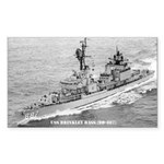USS BRINKLEY BASS Sticker (Rectangle)