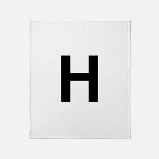 H Helvetica Alphabet Throw Blanket