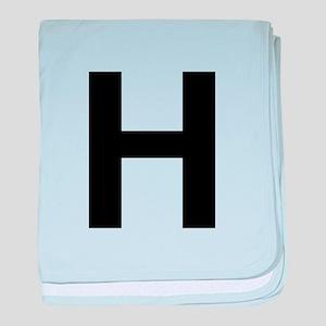 H Helvetica Alphabet baby blanket