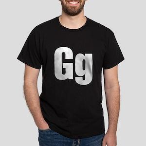 G Helvetica Alphabet Dark T-Shirt