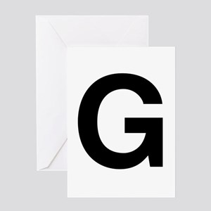 G Helvetica Alphabet Greeting Card