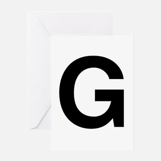 G Helvetica Alphabet Greeting Card