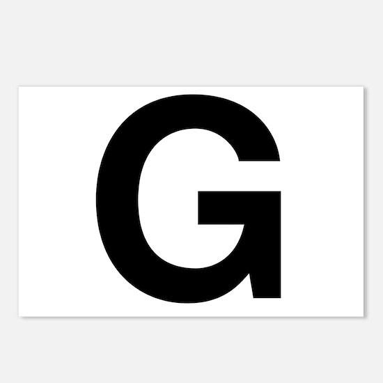 G Helvetica Alphabet Postcards (Package of 8)