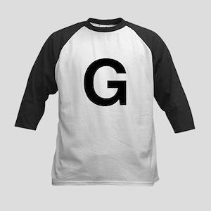 G Helvetica Alphabet Kids Baseball Jersey