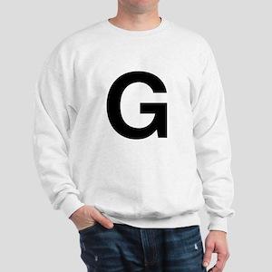 G Helvetica Alphabet Sweatshirt