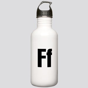 F Helvetica Alphabet Stainless Water Bottle 1.0L