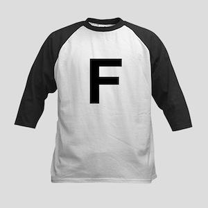 F Helvetica Alphabet Kids Baseball Jersey