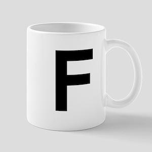 F Helvetica Alphabet Mug