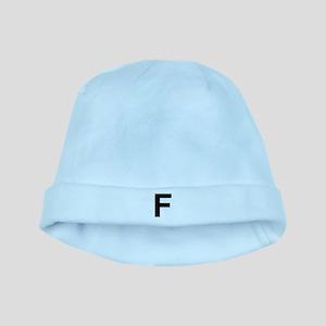 F Helvetica Alphabet baby hat