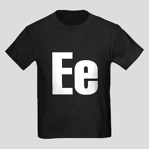 E Helvetica Alphabet Kids Dark T-Shirt