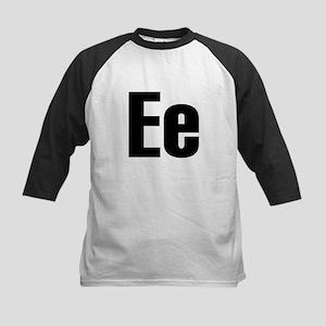 E Helvetica Alphabet Kids Baseball Jersey