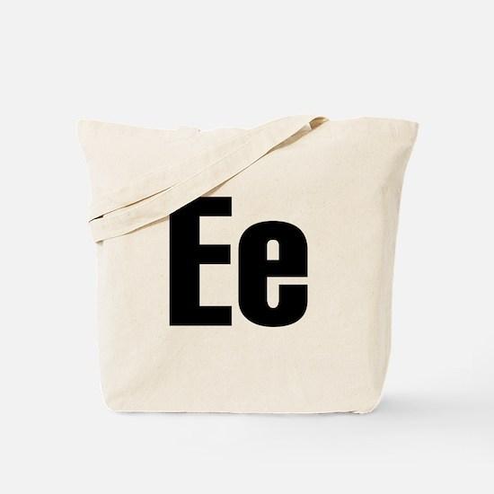 E Helvetica Alphabet Tote Bag