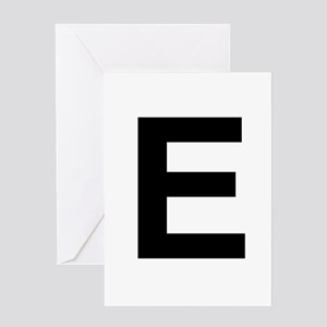 E Helvetica Alphabet Greeting Card