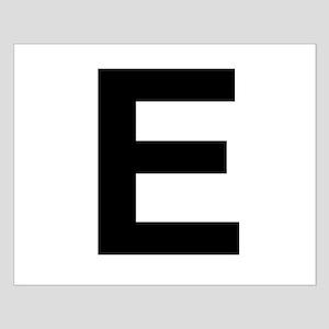 E Helvetica Alphabet Small Poster