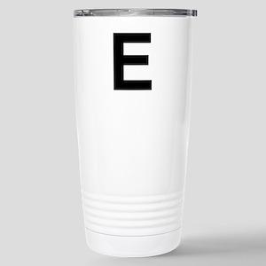 E Helvetica Alphabet Stainless Steel Travel Mug